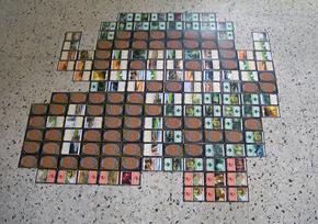 MTG 土地カードでドット絵