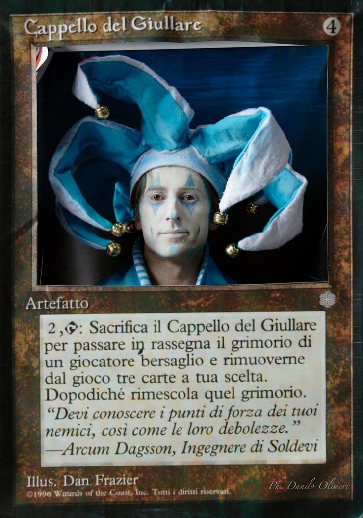 道化師の帽子さんカード