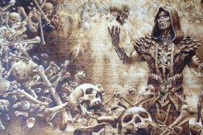 死儀礼のシャーマンの超素敵焼き絵デッキケース