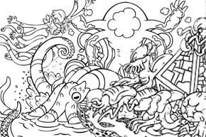 美術の時間♪ゼンディカーの塗り絵、エルドラージや面晶体など