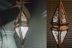 【MTG愛があふれる素敵シリーズ】手作り、木製面昌体型ランプ